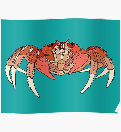 Cool Looking Crab Poster