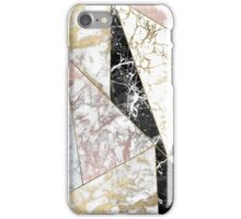 Modern abstract faux rose gold black white marble iPhone Case/Skin
