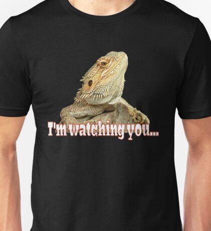 Bearded dragon watching you Unisex T-Shirt