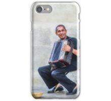 Happy street musician iPhone Case/Skin