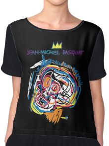 Jean Michel Basquiat Head Version 2 Chiffon Top