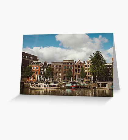 Waals-elands canal in Amsterdam Greeting Card
