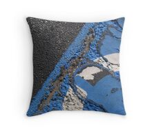 Blue Asphalt 09 Throw Pillow