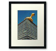 Sculpture on a roof #1 Framed Print