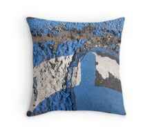 Blue Asphalt 10B Throw Pillow