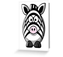 Zebra, Cartoon, Cute, Horse Greeting Card