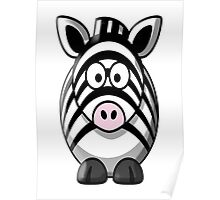 Zebra, Cartoon, Cute, Horse Poster