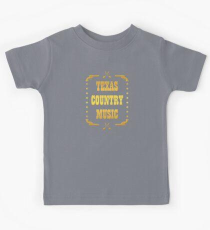 Golden Texas Country Music Kids Tee