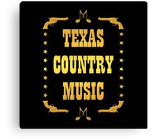Golden Texas Country Music Canvas Print