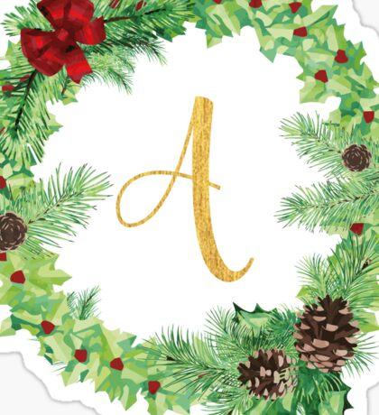 Christmas Monogram A Sticker