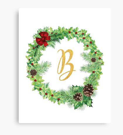Christmas Monogram B Canvas Print