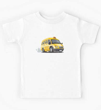 cartoon taxi bus Kids Tee