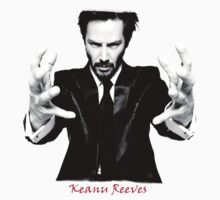 Keanu Reeves the Actor Black and White Kids Tee