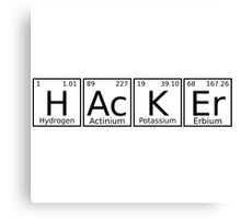 Hacker chemical formula Canvas Print