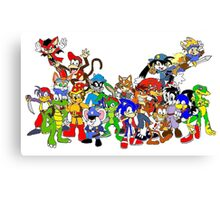 Game Critters Canvas Print