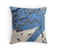 Blue Asphalt 11A Throw Pillow