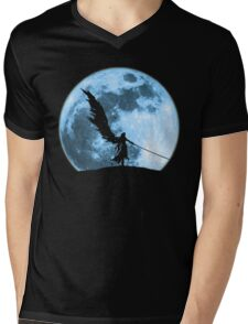 One winged angel in the night Mens V-Neck T-Shirt