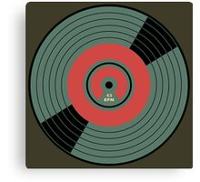 Wonderful Vintage Vinyl Record 45 RPM Canvas Print