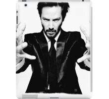 Keanu Reeves the Actor Black and White iPad Case/Skin