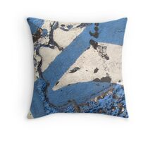 Blue Asphalt 11B Throw Pillow