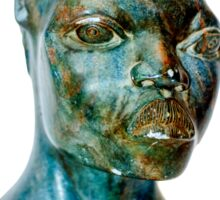 African Art, stone portrait of a female African bust, south Africa Sticker