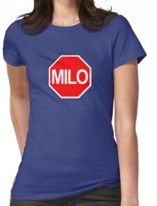 Milo Murphy's Law Stop Sign Womens Fitted T-Shirt