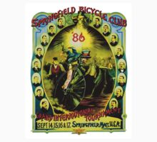 SPRINGFIELD BICYCLE CLUB; Vintage Advertising Poster One Piece - Short Sleeve