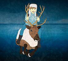 Reindeer Rider by Janet Carlson