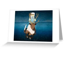 Reindeer Rider Greeting Card