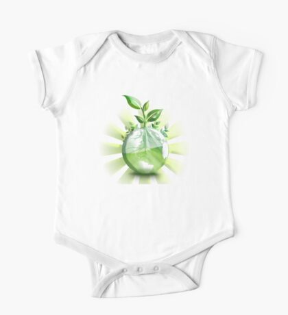 Ecology, Earth science, Environment, Eco, Ecosystems, Green One Piece - Short Sleeve