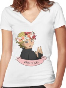 Precious Kenjirou Women's Fitted V-Neck T-Shirt