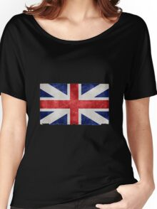 British Union Jack Flag Grunge Effect Women's Relaxed Fit T-Shirt