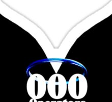 000 Dispatchers Are Awesome Black Wings - Blue Halo Sticker