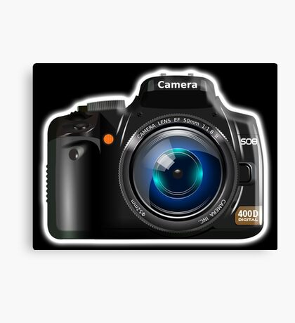 Camera, DSLR, Photography Canvas Print