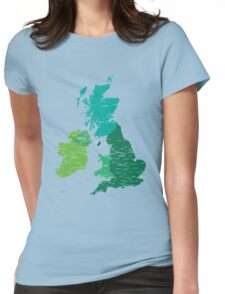Map of Great Britain and Ireland Womens Fitted T-Shirt