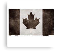 Canadian Flag Black Canvas Print