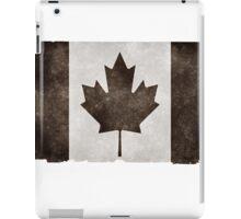 Canadian Flag Black iPad Case/Skin