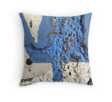 Blue Asphalt 12B Throw Pillow