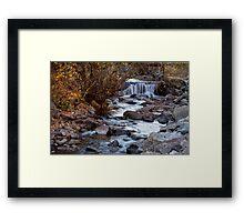 Waterfall On Beautiful Boulder Creek Framed Print