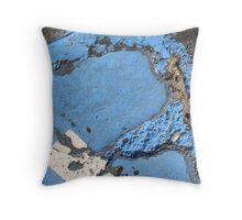 Blue Asphalt 13A Throw Pillow