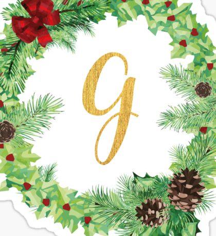 Christmas Monogram G Sticker