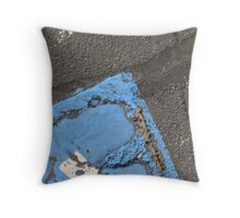 Blue Asphalt 13B Throw Pillow