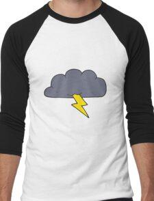 cartoon thundercloud Men's Baseball ¾ T-Shirt
