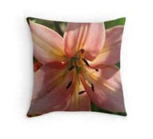 Lily Flower Bloom Throw Pillow