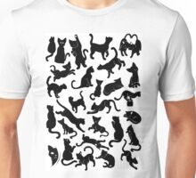 Black Cat Pattern Unisex T-Shirt