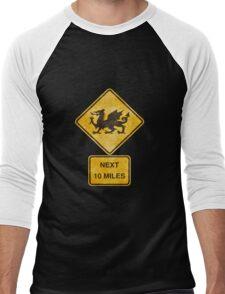 Dragons Next 10 Miles Sign Men's Baseball ¾ T-Shirt