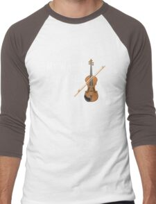 My Wand Chose Me Violinist Viola Violin Music Men's Baseball ¾ T-Shirt
