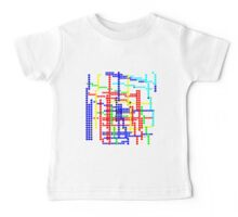 colorful Circles 11416 Baby Tee