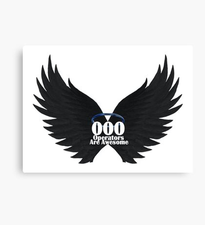 000 Dispatchers Are Awesome Detailed Black Wings - Blue Halo Canvas Print