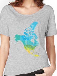 Map of the USA and Canada Women's Relaxed Fit T-Shirt